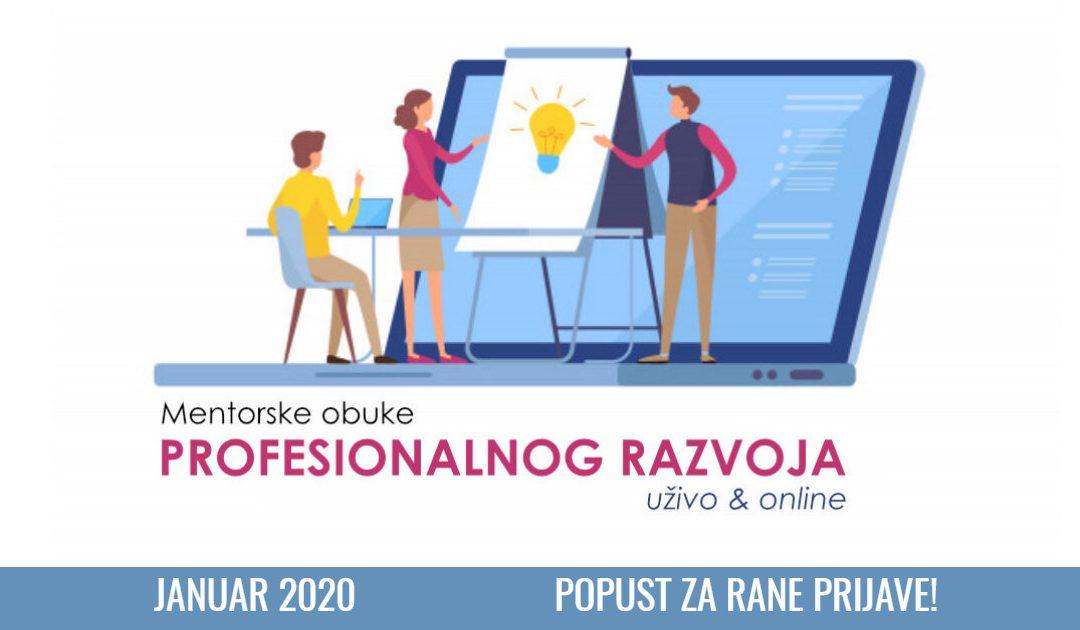 Mentorski programi profesionalnog razvoja 2020.