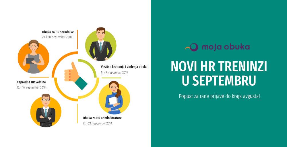 [NAJAVA] Novi HR treninzi u septembru