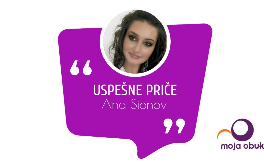 Uspešne priče – Ana Sionov